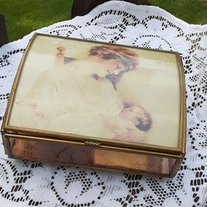 Well made music jewelry box antique